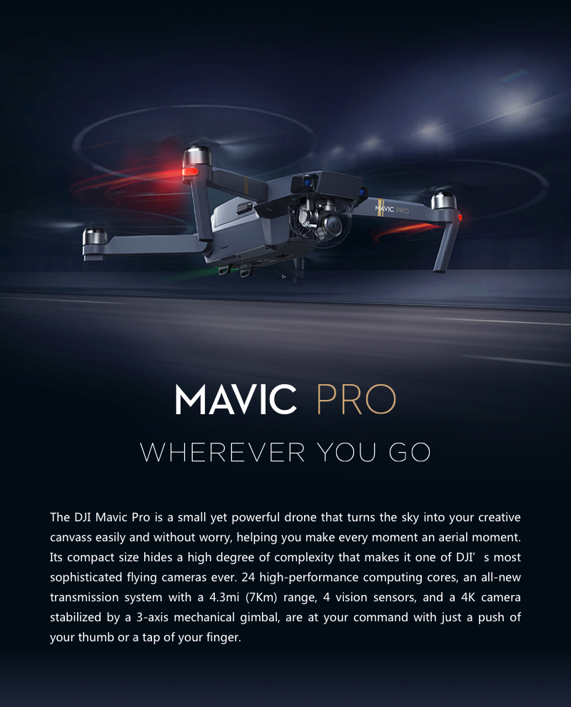 $270 for Original DJI Mavic Pro Foldable Obstacle Avoidance FPV RC Quadcopter with 4K Camera OcuSync Live View System,free shipping $929