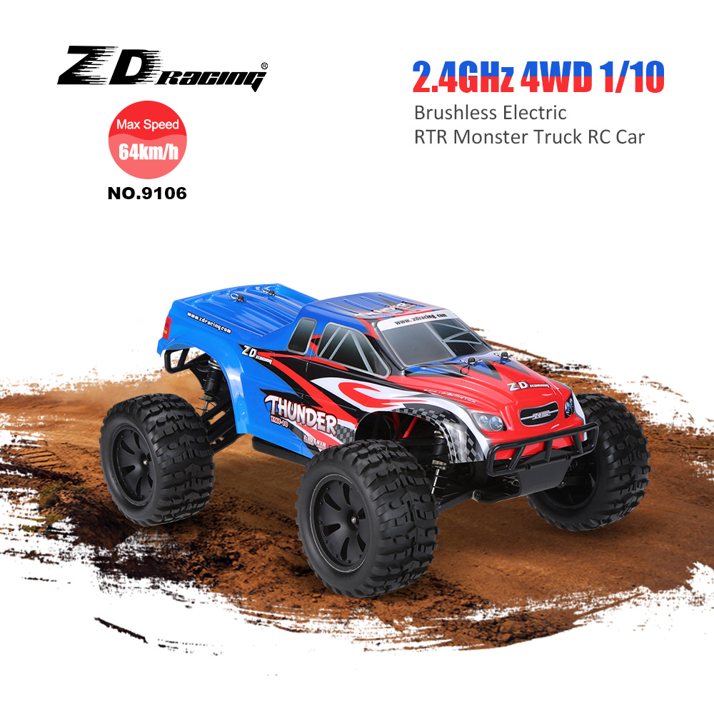 Get Exrta $36 Off ZD Racing NO.9106 Thunder ZMT-10 Brushless Electric Monster Truck