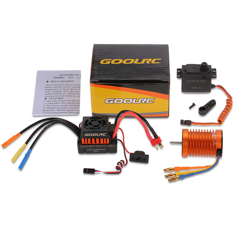 F540 3300kv Waterproof Motor 45a Esc With Gear Servo