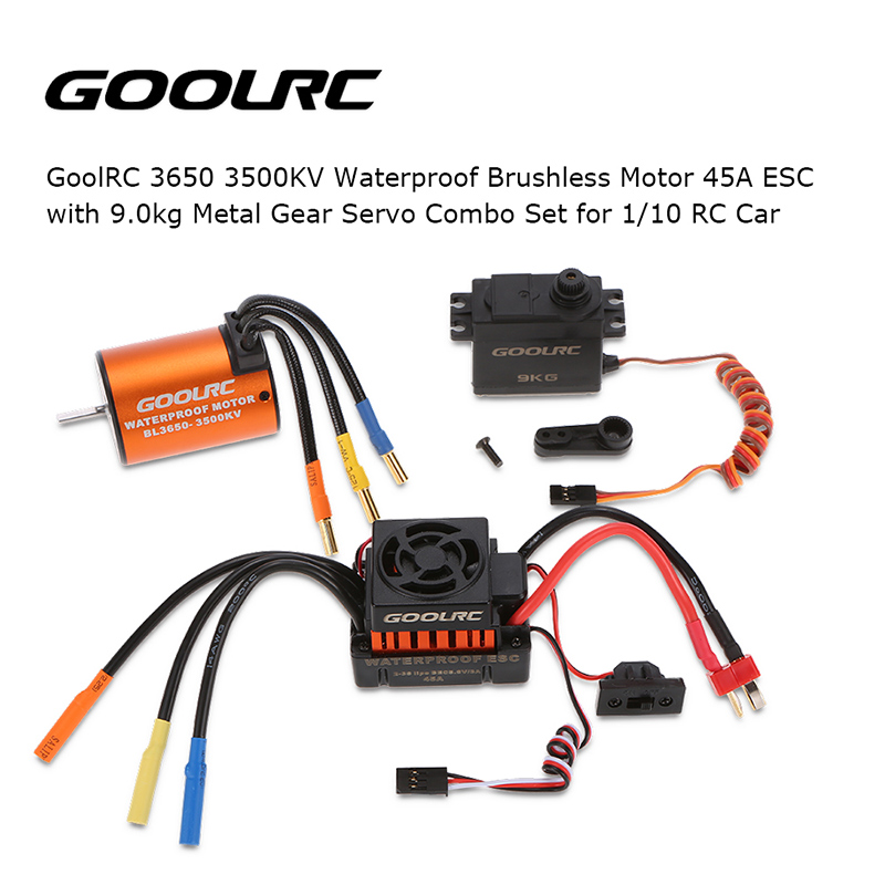 3650 3500kv Waterproof Motor 45a Esc With Gear Servo