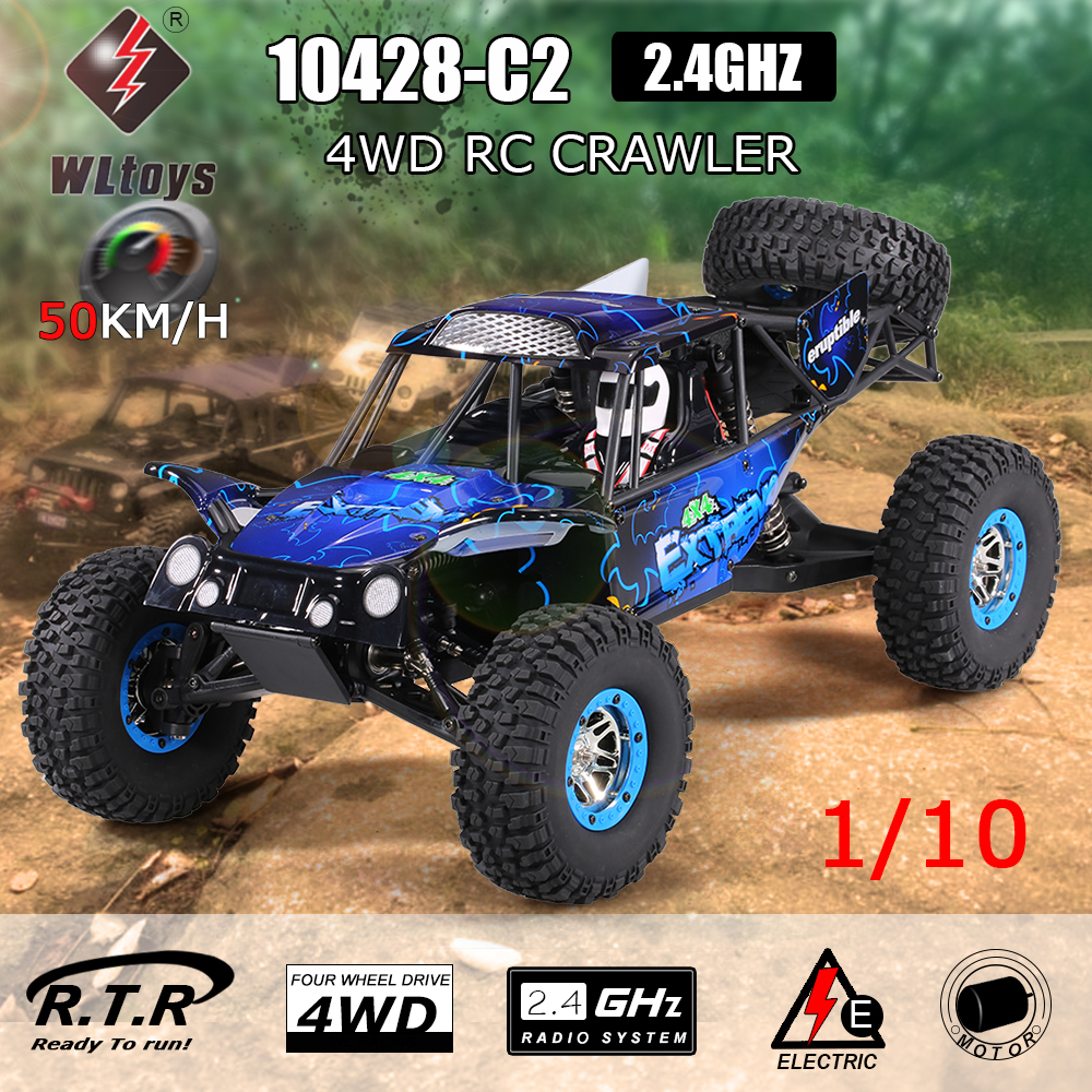 Only $99.99 for WLtoys 10428-C2 1/10 2.4G 4WD Electric Rock Crawler Off-Road RC Car