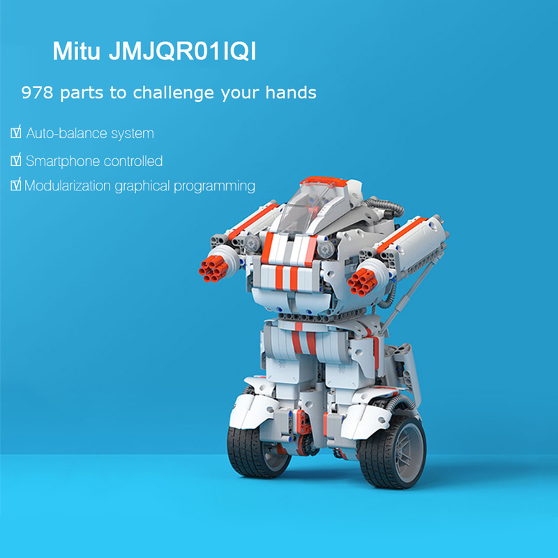 $10 Off XIAOMI Mitu DIY Mobile Phone Control Building Self-assembled Robot,free shipping $89.99