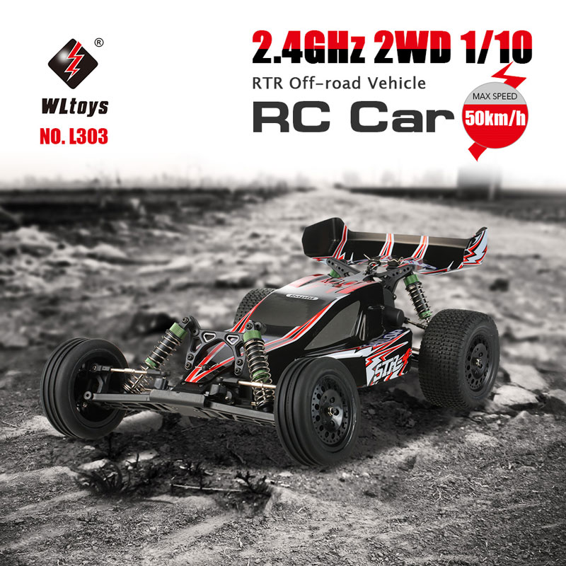 $10 Off Original WLtoys L303 2.4GHz 2WD 1/10 50km/h Brushed Electric RTR Off-road Vehicle RC Car,free shipping $79.99