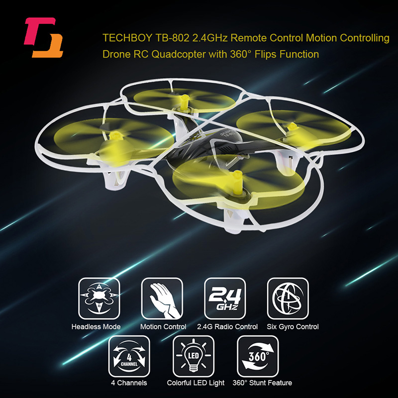 $4 Off TECHBOY TB-802 2.4GHz Remote Control One-key Motion Controlling Drone,free shipping $19.99