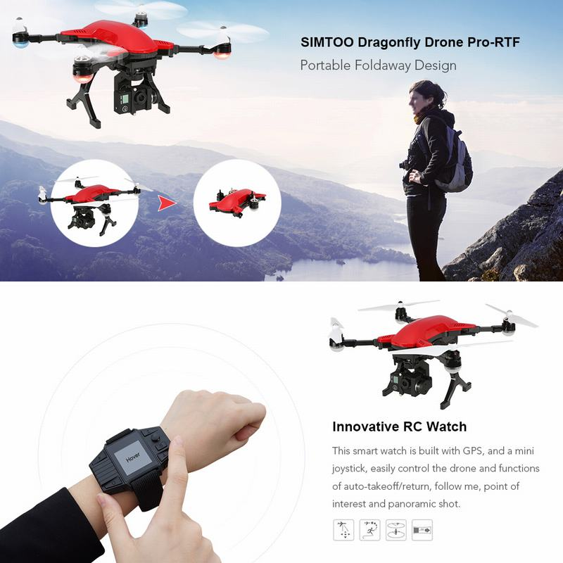 $75 Off SIMTOO Dragonfly Brushless Professional RC Quadcopter,free shipping $374.99