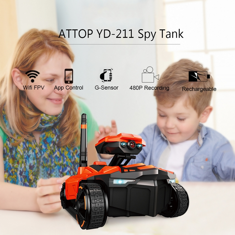 $9 Off ATTOP YD-211 Phone Controlled Spy Tank,free shipping $30.99