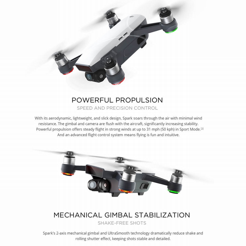 5% Off DJI Spark Mini RC Selfie Drone - BNF  WIFI FPV / 12MP Camera / 2-Aixs Gimbal / Gesture Function,free shipping $559.55