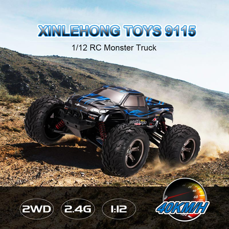 $7 Off XINLEHONG TOYS 9115 2.4GHz 2WD 1/12 40km/h Electric RTR High Speed Monster Truck RC Car,free shipping $49.99