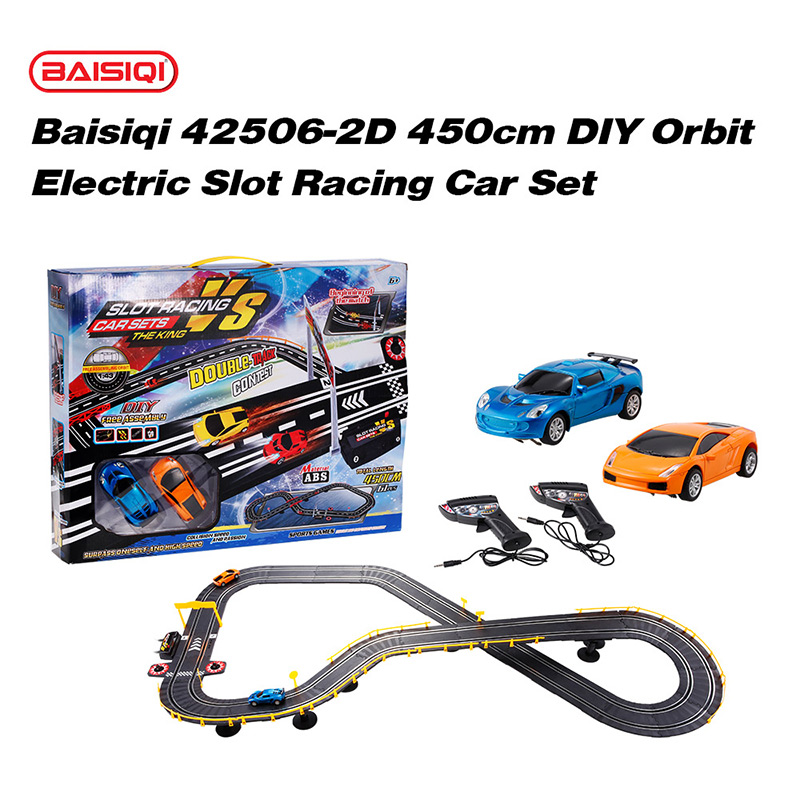 $6 Off Baisiqi 42506-2D Electric Two Slot Racing Car Overdrive Starter Kit,free shipping $39.99