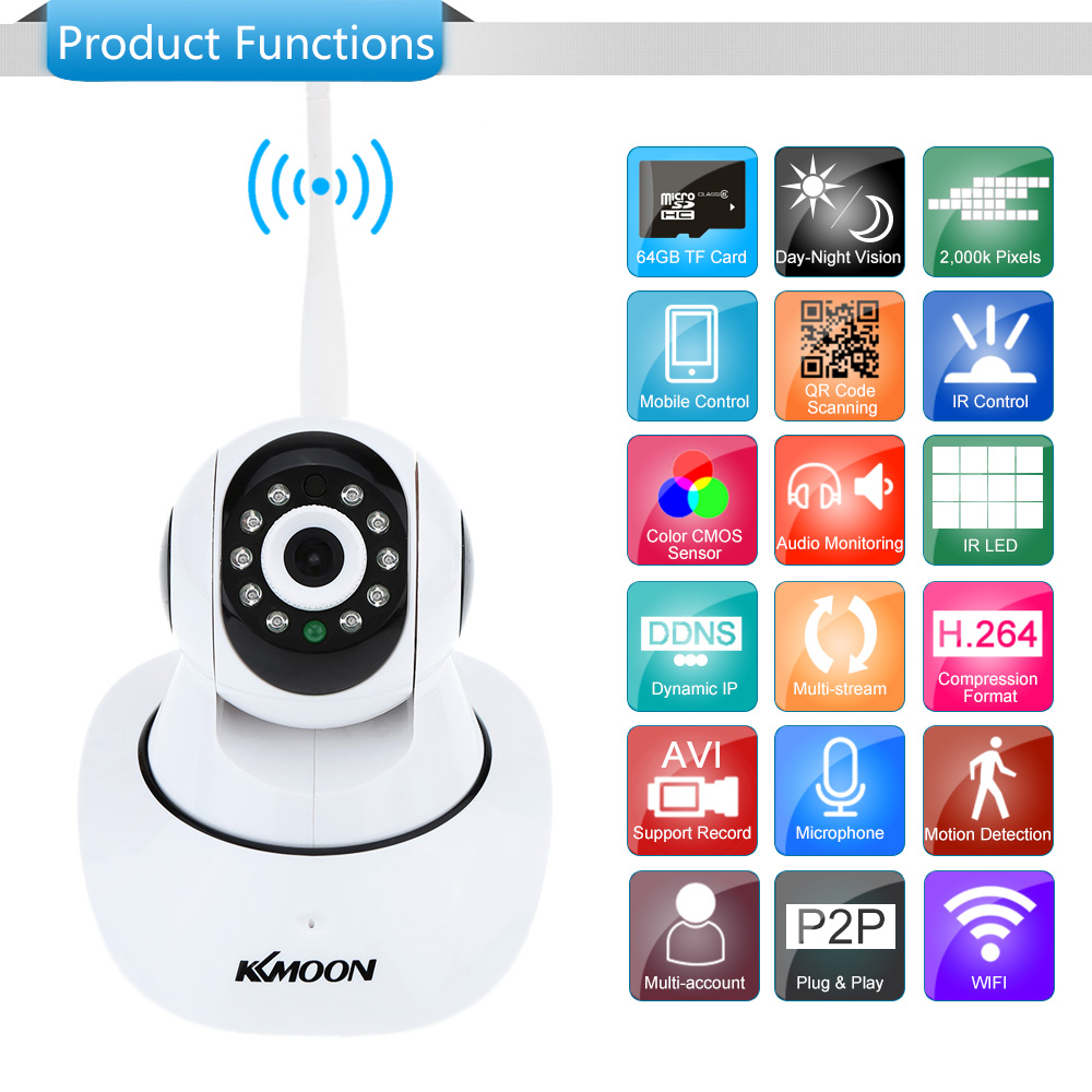 hd 2mp 1080p camera pan p2p tilt ir cut wifi wireless network ip webcam n6e4. Black Bedroom Furniture Sets. Home Design Ideas