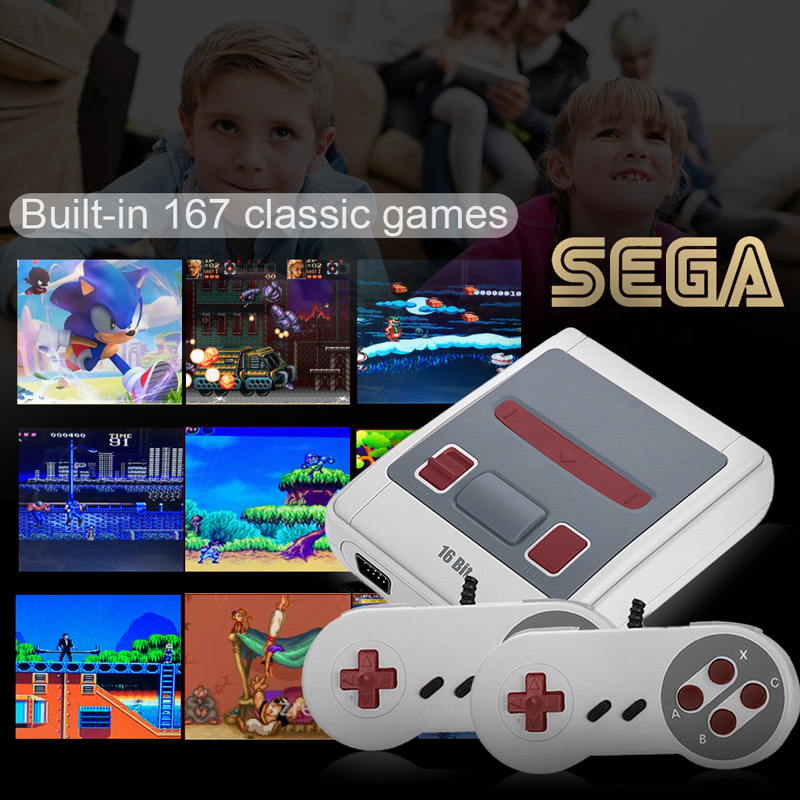 Buy SEGA Video Game Console 16 Bit Retro Handheld Game Player with