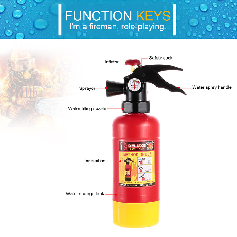 Pendant Fire Extinguisher Charm Firefighter Fireman Charm Home Safety 911 Fire