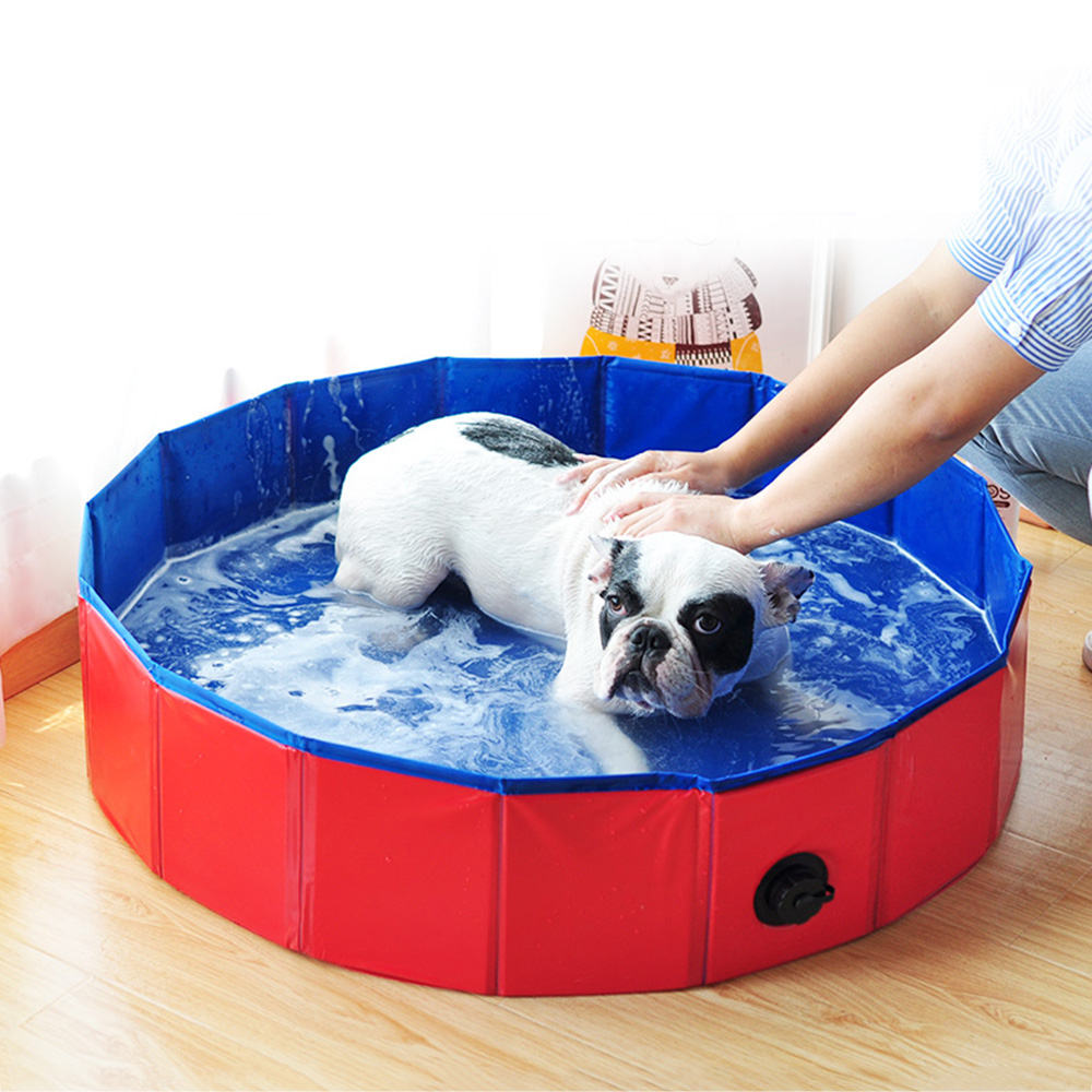 Details About Foldable Pet Bath Pool Collapsible Dog Pool Pet Bathing Tub  For Dogs Cats N9N0