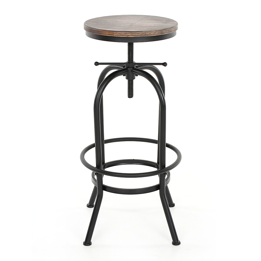 Industrial style height adjustable swivel bar stool for Kitchen stools and chairs
