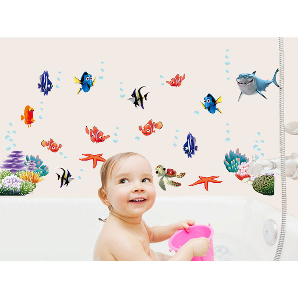Ocean Wall Decor For Nursery : Ocean sea fish wall decor vinyl decal sticker removable