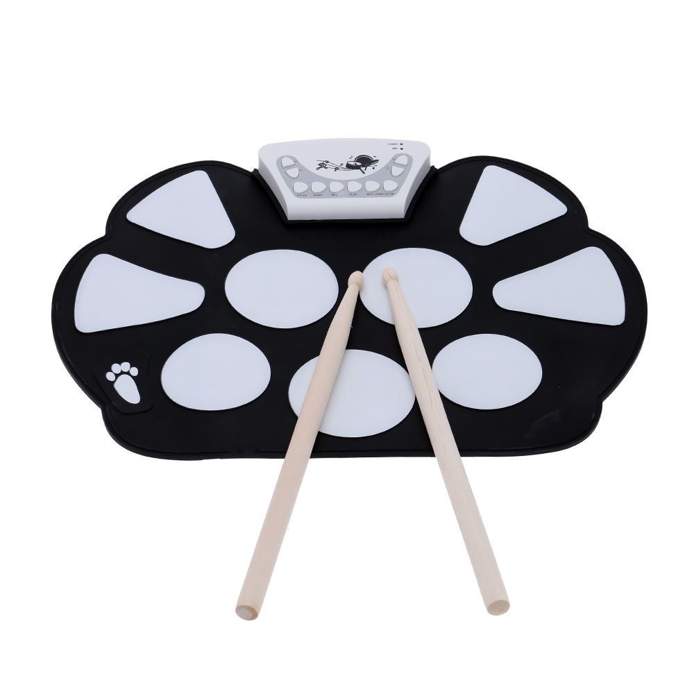 Purchase Electronic Roll Up Drum Pad Kit Silicon Foldable Online