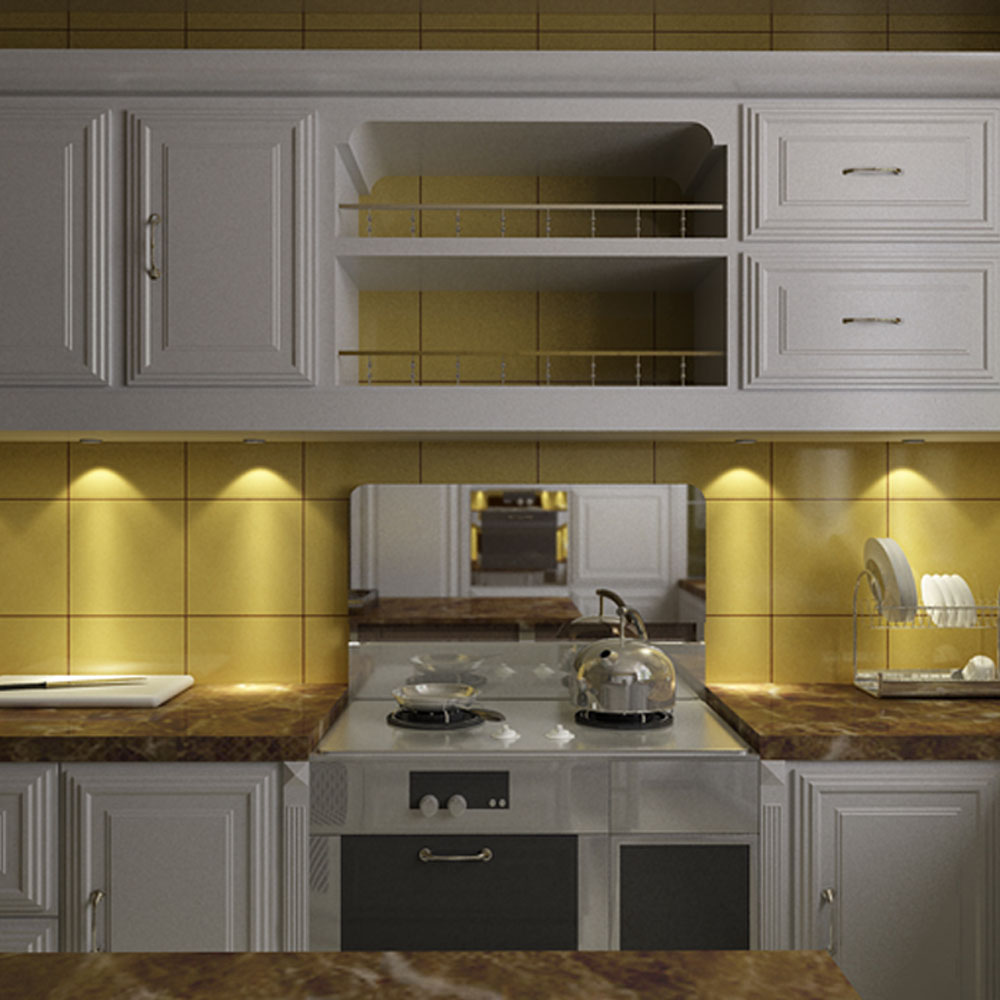 Lighting For Under Kitchen Cabinets: Dimmable Set Of 4 Under Cabinet RGB Light Kit 9LEDs Puck