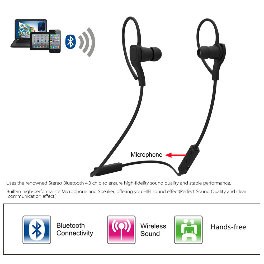 wireless bluetooth stereo sport in ear csr headset. Black Bedroom Furniture Sets. Home Design Ideas