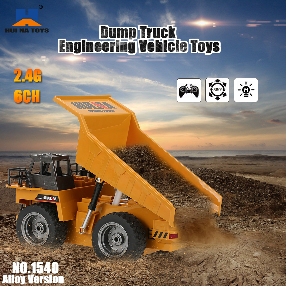 Only 34.96$ for HUI NA TOYS NO.1540 2.4G 6CH Alloy Dump Truck Construction Engineering Vehicle Toy Gift