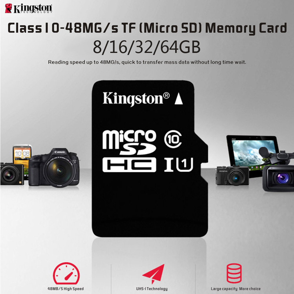 Details About Kingston Class 10 16gb 32gb 64gb Microsd Tf Flash Memory Card With Adapter Q4g0