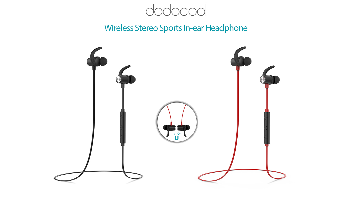 Magnetic Wireless Stereo Sports Headphone A Hiqh Quality Amplifier Schematic Dodocool In Ear With Hd Mic Enables You To Enjoy High Audio And Handsfree Phone Calls