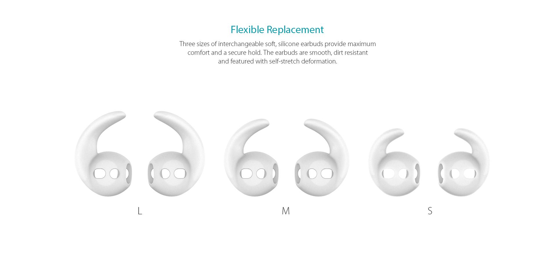 473deb18f57 Replacement Soft Silicone Antislip Ear Hook-dodocool.com