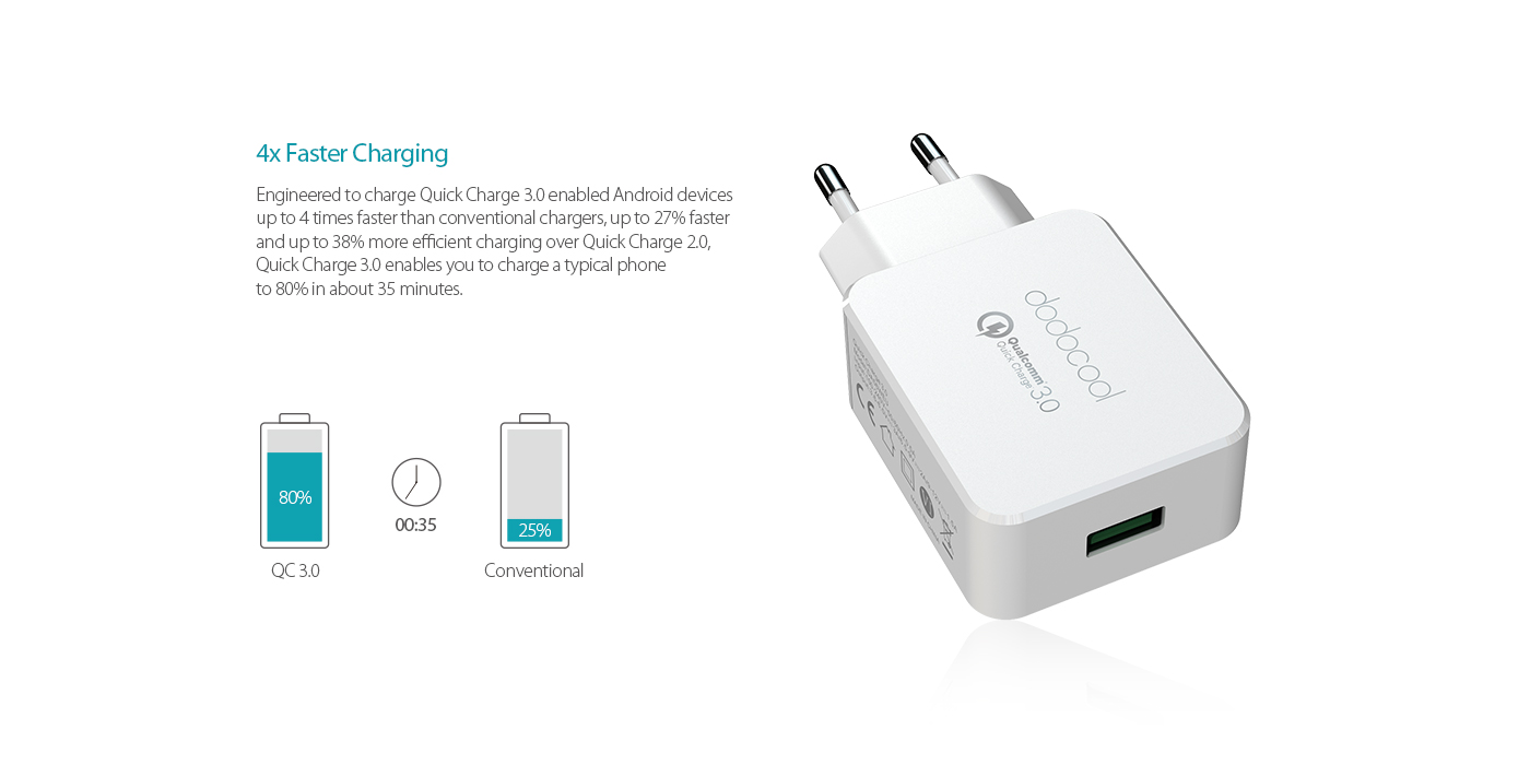 Qualcomm Quick Charge 30 Dodocool 18w Usb Wall Thbelectronics Charging Your Cell Phone Home Made Circuit Overview