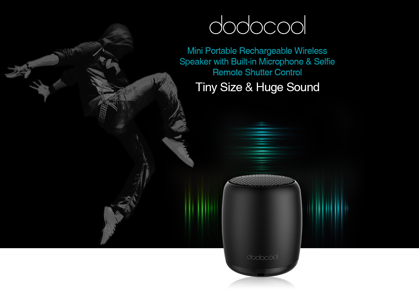 $3 OFF dodocool Rechargeable Wireless Speaker,free shipping $8.99