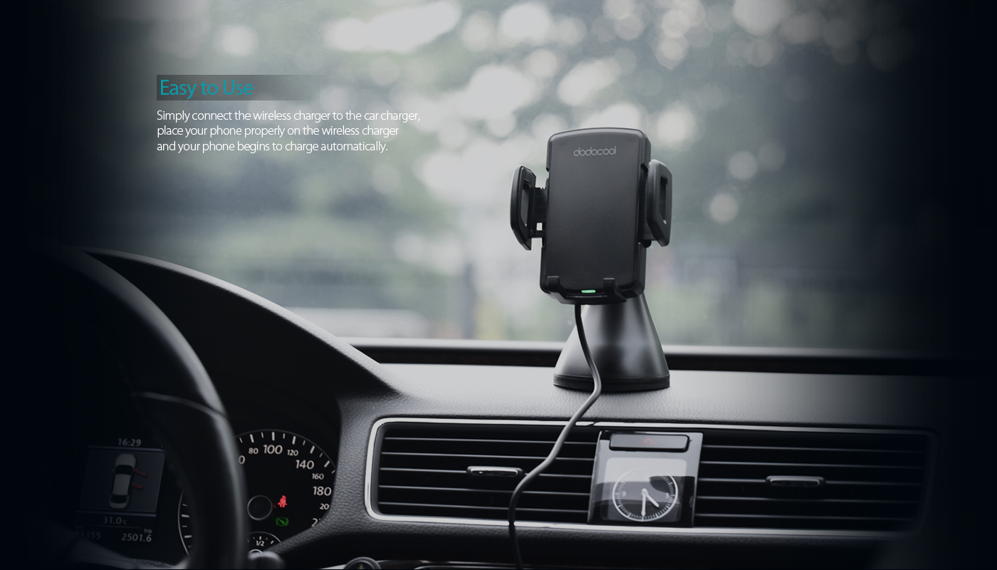 Overview Dodocool Fast Wireless Car Charger