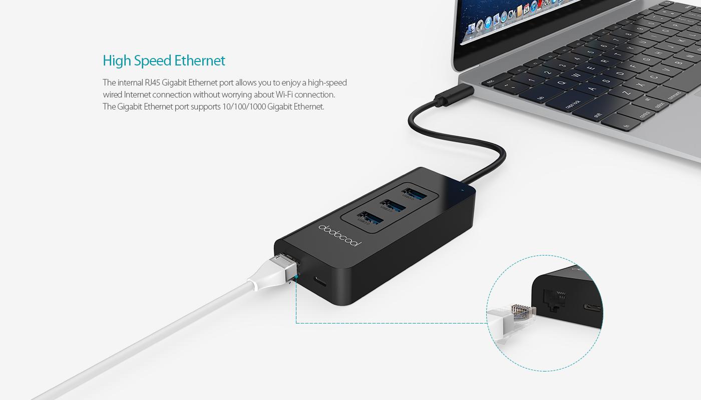 USB-C 3.1 to 3-Port USB-A 3.0 Hub - dodocool.com