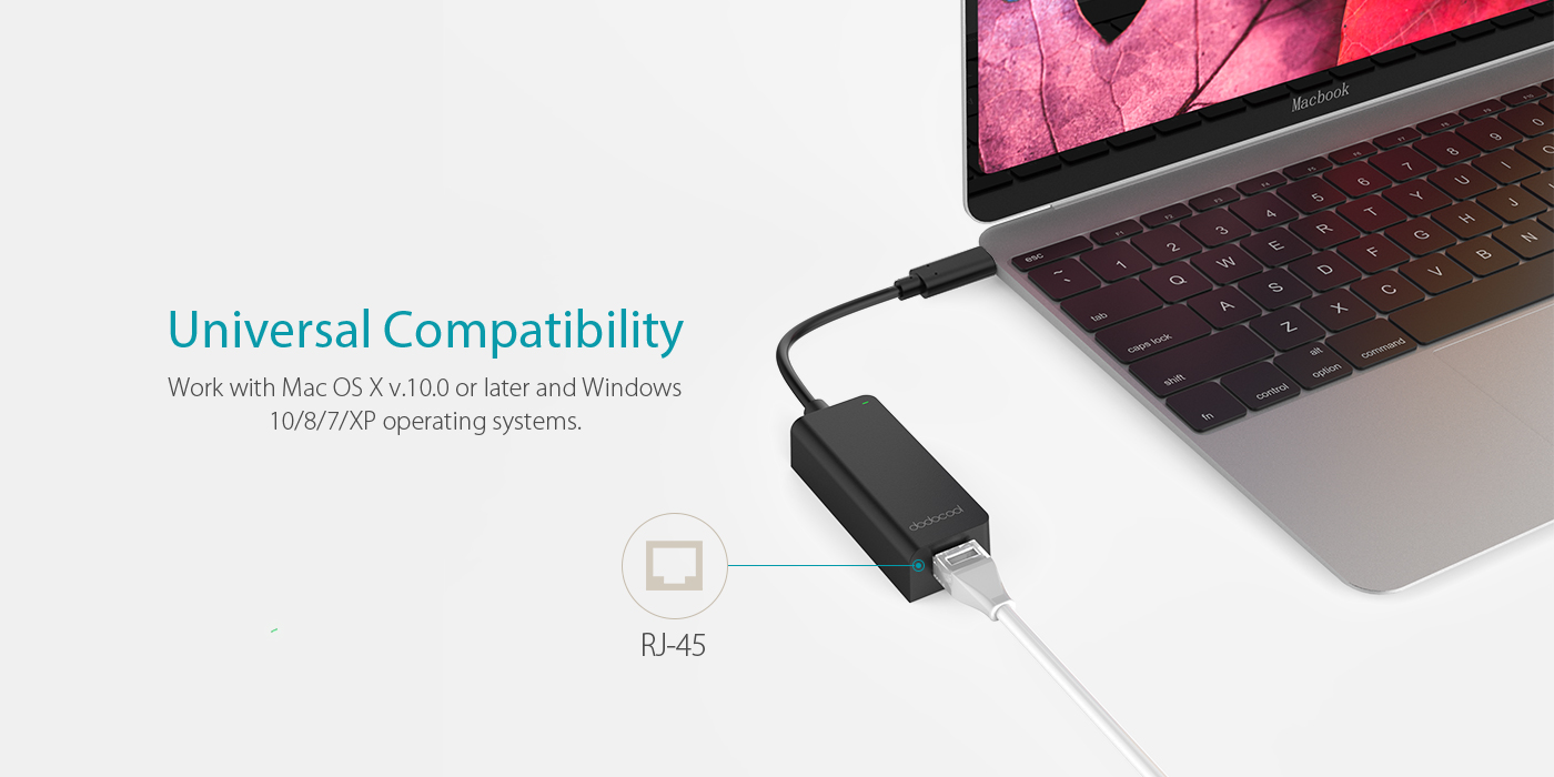 USB 3 1 Type-C Thunderbolt 3 to RJ-45 - dodocool com