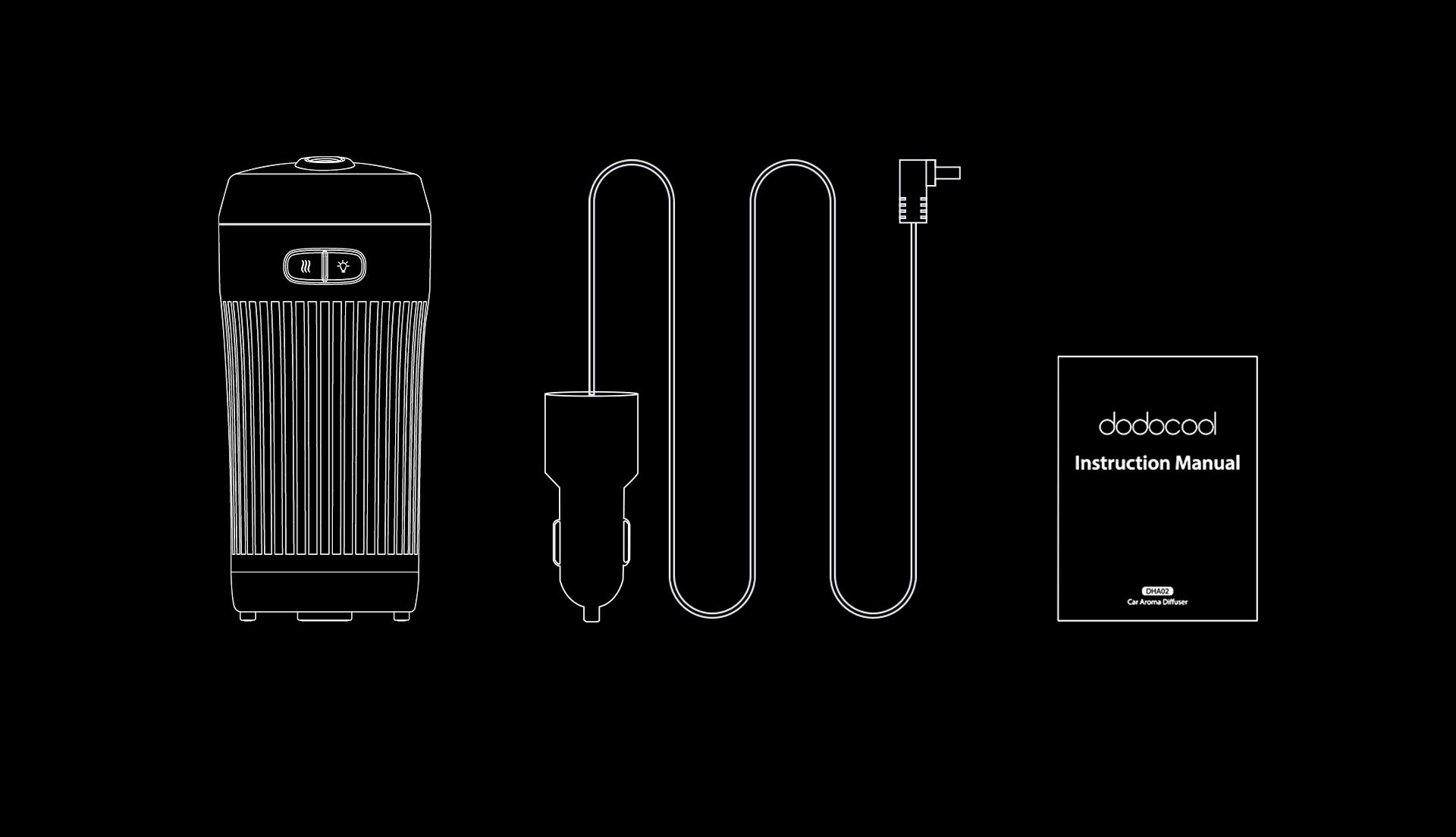 Dodocool Mini Portable 70ml Ultrasonic Car Aroma Essential Oil Diffuser H3g0 Humidifiers Home Furniture Diy Plastpath Com Br