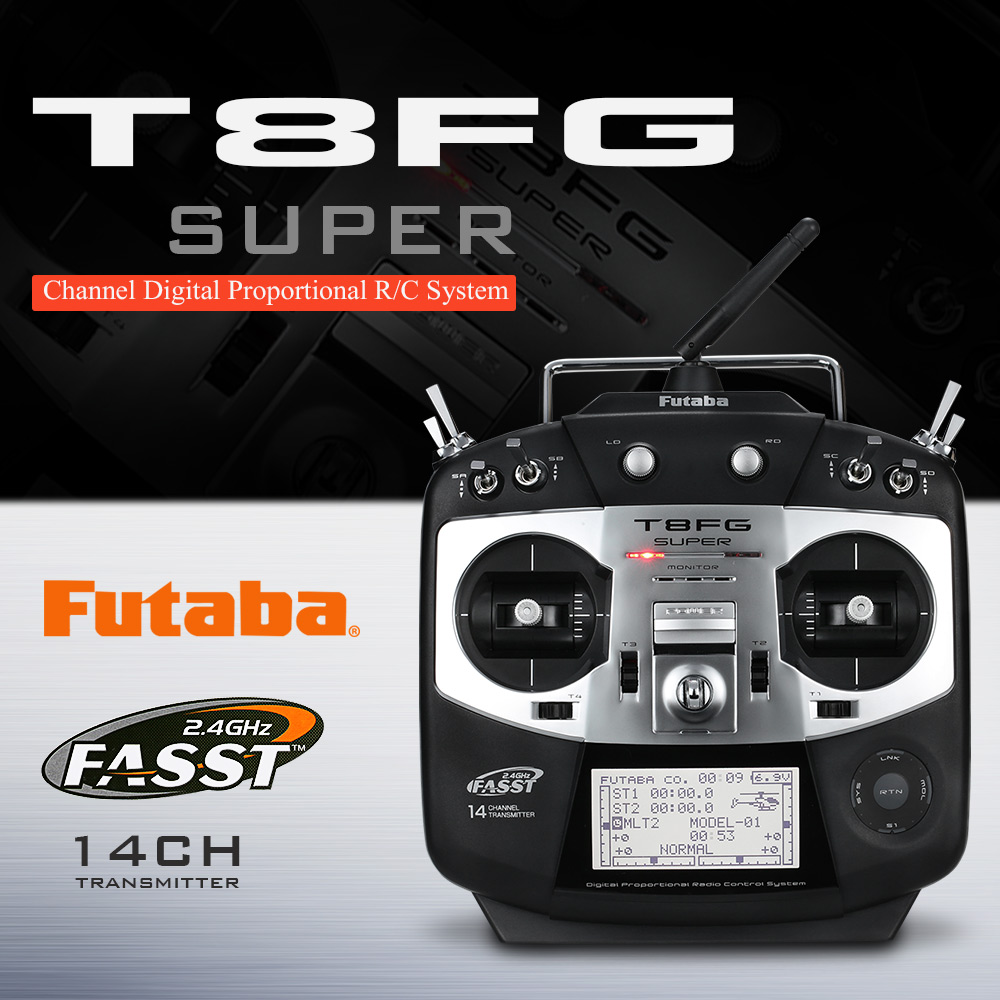 Original Futaba T8FG FASS-2 4G 14CH Transmitter Mode 2 with R6208SB 8CH  Receiver for RC Airplane Glider Helicopter - RcMoment com
