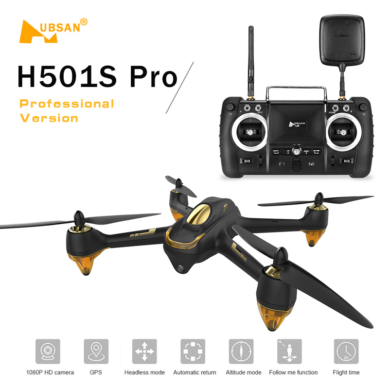 Get Extra  20$ off  Hubsan  Pro X4 5.8G FPV Brushless Drone w/ 1080P Camera 10 Channel Remote Control GPS Quadcopter