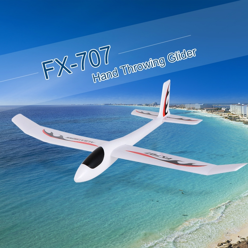 FX-706 1210mm Wingspan Hand Throwing Glider Fixed Wing RC Racing Airplane DIY