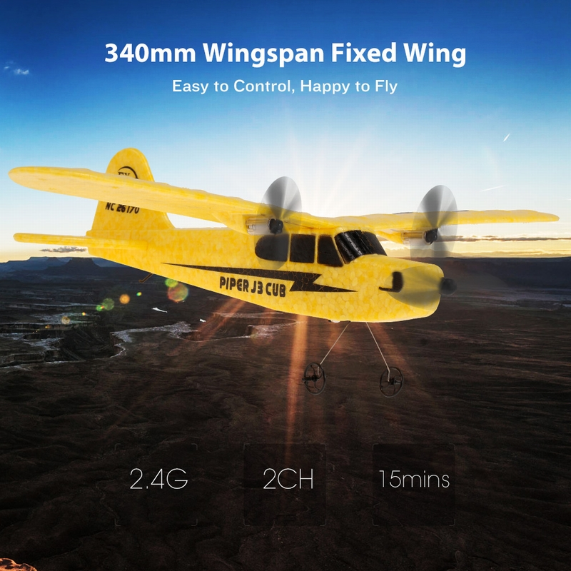 FX-803 2 4G 2CH 340mm Wingspan Remote Control Glider Fixed Wing RC Airplane  Aircraft RTF