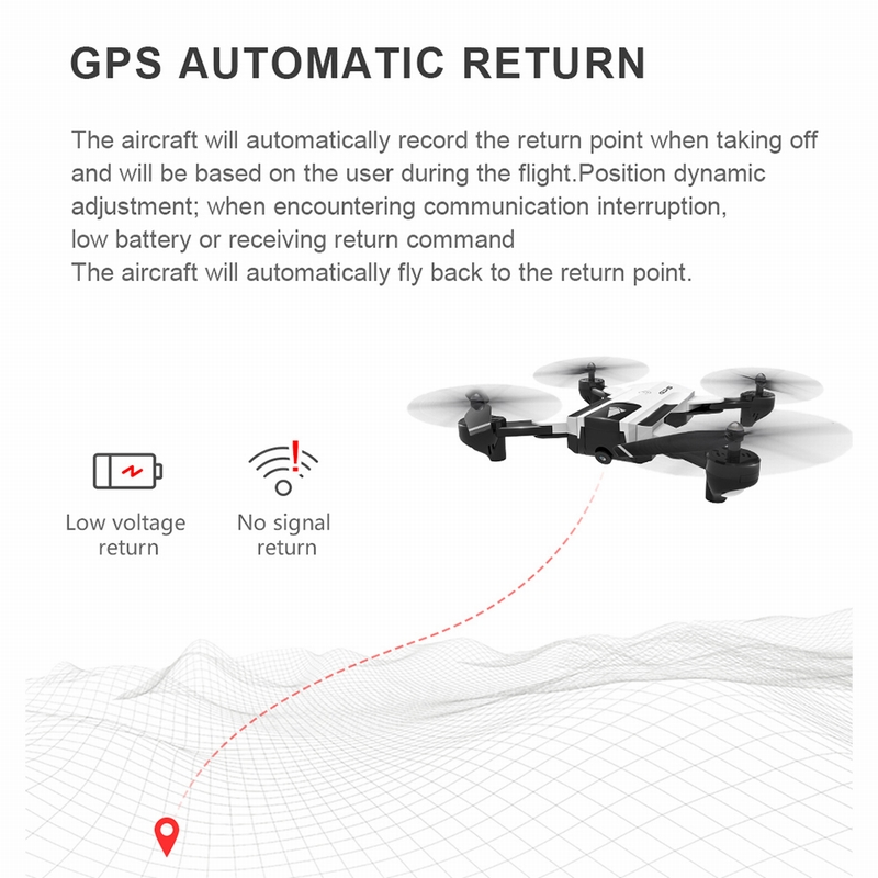 white1 SG900-S GPS RC Drone with Camera 1080P Wifi FPV Follow Me Surround  Mode Multi-point Fly Altitude Hold Foldable RC Quadcopter - RcMoment com