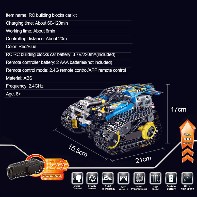 MoFun 2 4GHz RC Building Blocks Car