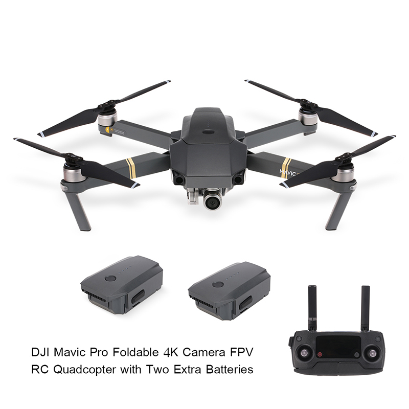 $90 OFF DJI Mavic Pro 4K Camera Drone with Two Extra Batteries,free shipping $1169.99
