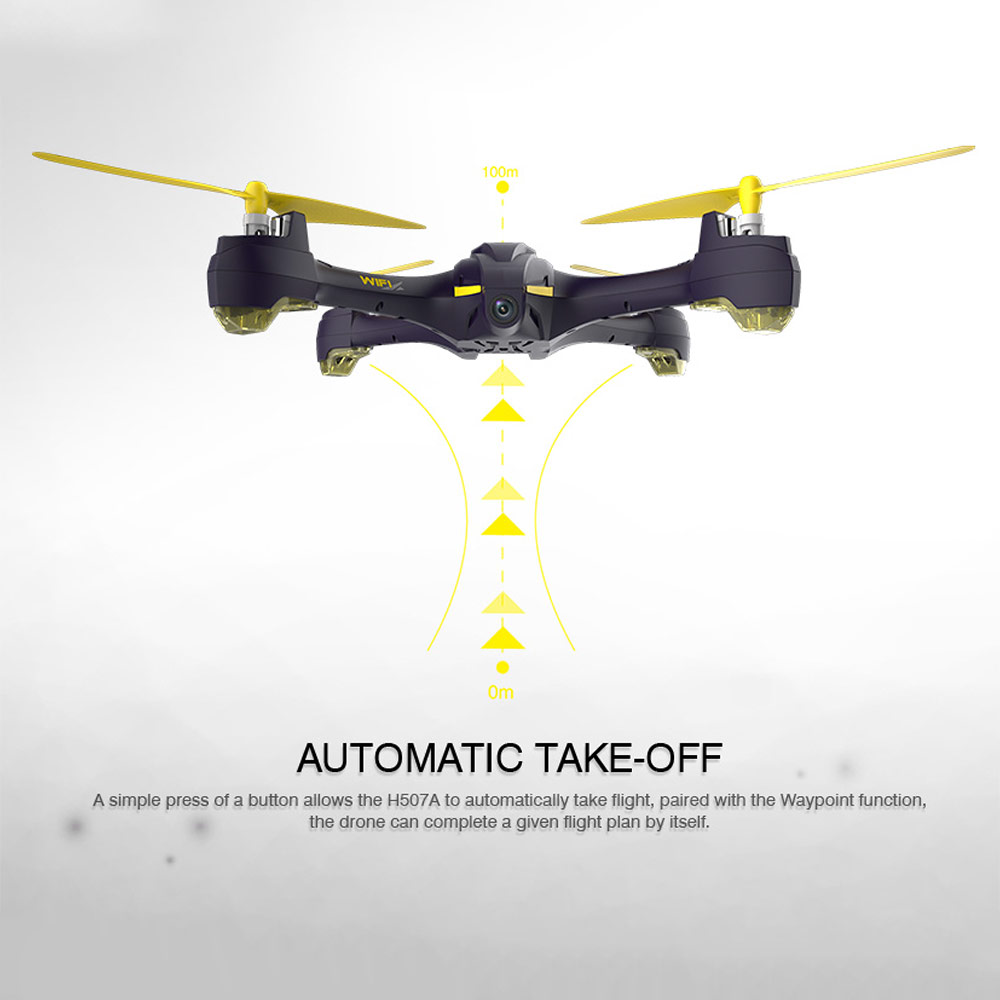 Get $10  Off For Hubsan  720P Wifi FPV RC Quadcopter Follow Me Mode Way Point GPS One-Key Return Selfie Drone with code   Only $85.99 +free shipping