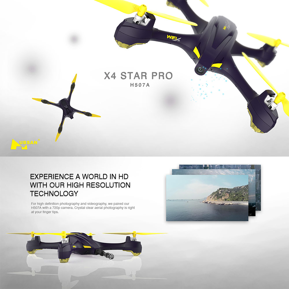 Get $6  Off For Hubsan H507A 720P Wifi FPV RC Quadcopter Follow Me Mode Way Point GPS One-Key Return Selfie Drone with code  Only $89.99 +free shipping