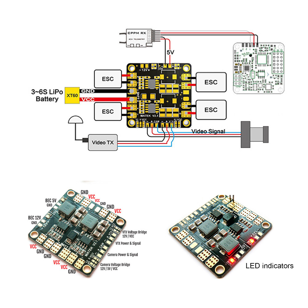 4 layers upgraded power distribution board pdb pcb with 2 bec 5v rh rcmoment com Electrical Power Generation and Distribution Grounding Diagram