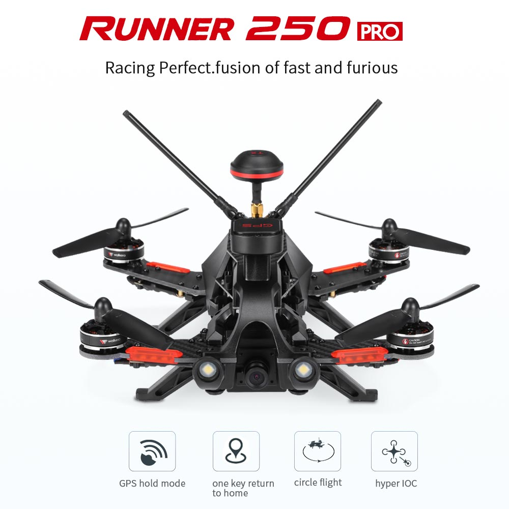 Get $20  Off For Original Walkera Runner 250 PRO 800TVL 5.8G FPV Racing Drone RC Quadcopter with GPS/GLONASS OSD DEVO 7 Transmitter with code   Only $269.99 +free shipping