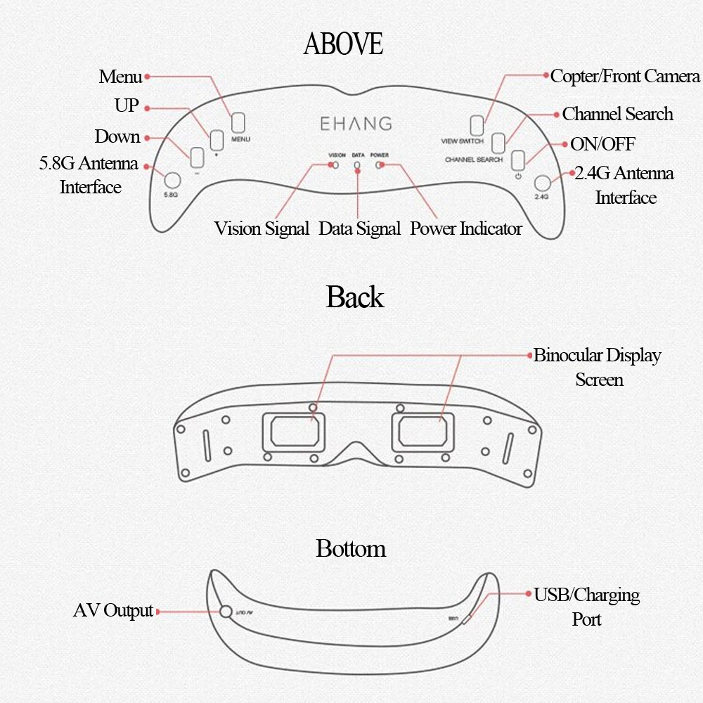Original Ehang Vr Goggles Ios Version For Ghostdrone 20 Rc. Original Ehang Vr Goggles Ios Version For Ghostdrone 20 Rc Quadcopter. Wiring. Ghost Drone Wiring Diagram At Scoala.co