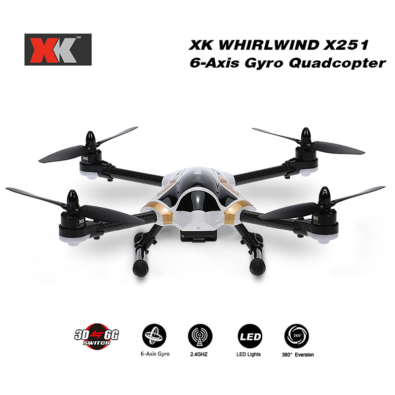 Get 20$ off XK  Brushless Motor 3D 6G Switch Remote Control RTF RC Quadcopter with X7 Transmitter