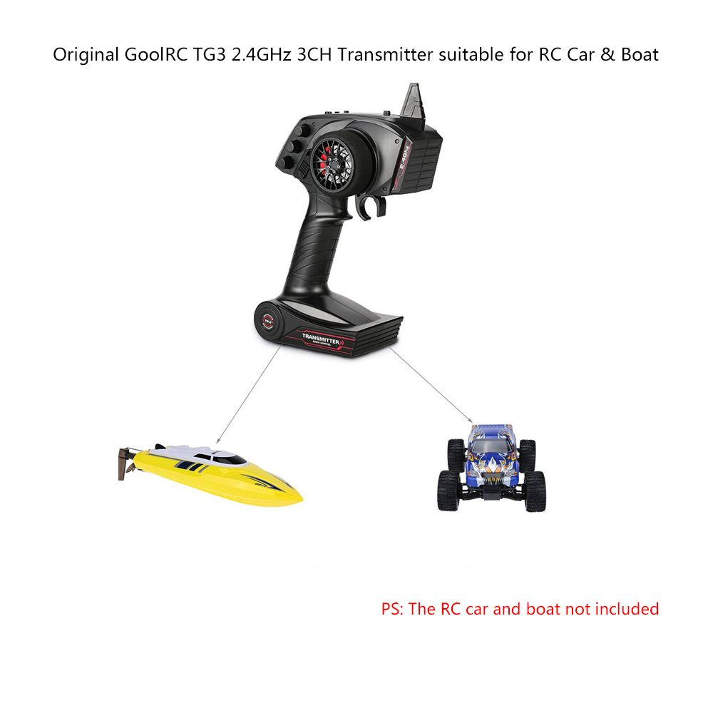 Original goolrc tg3 2 4ghz 3ch digital radio remote control transmitter with receiver for rc car boat
