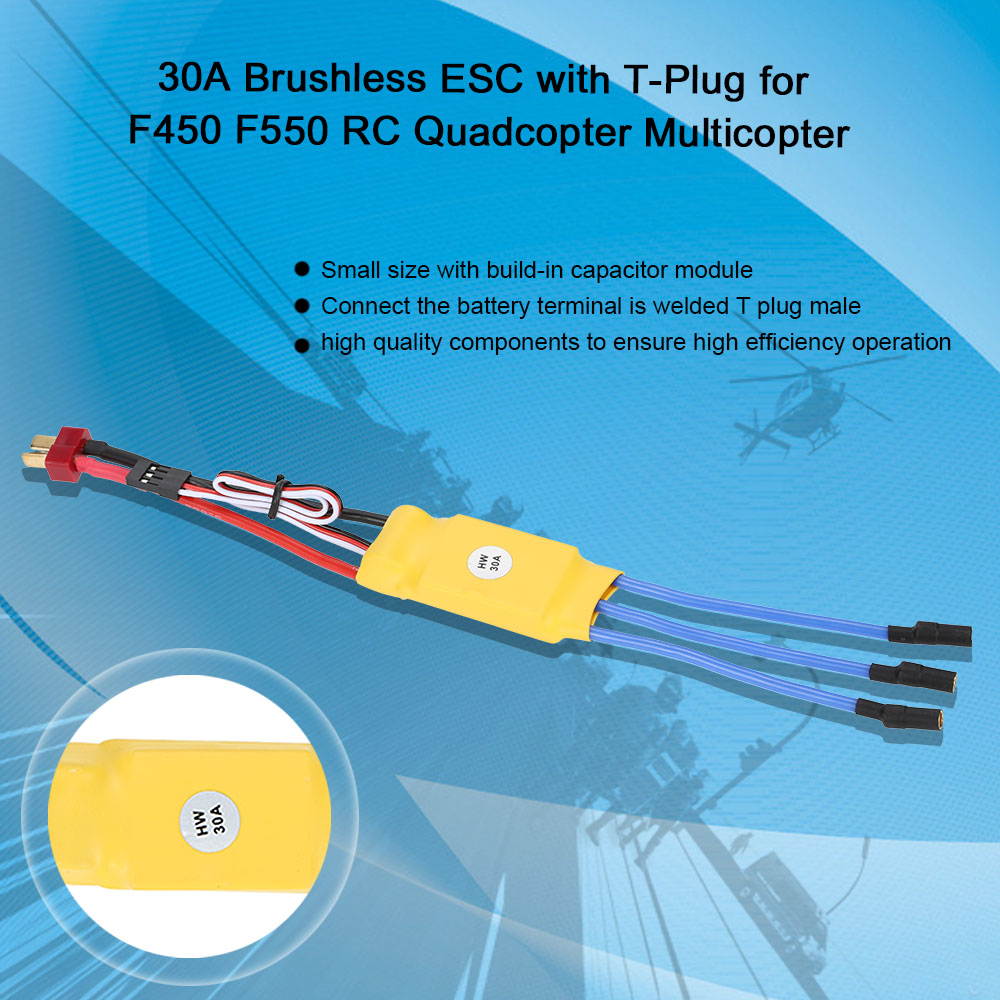 30a Brushless Esc Electric Speed Controller With T Plug For F450 Diy Electronic Homemade Rc F550 Quadcopter Multicopter