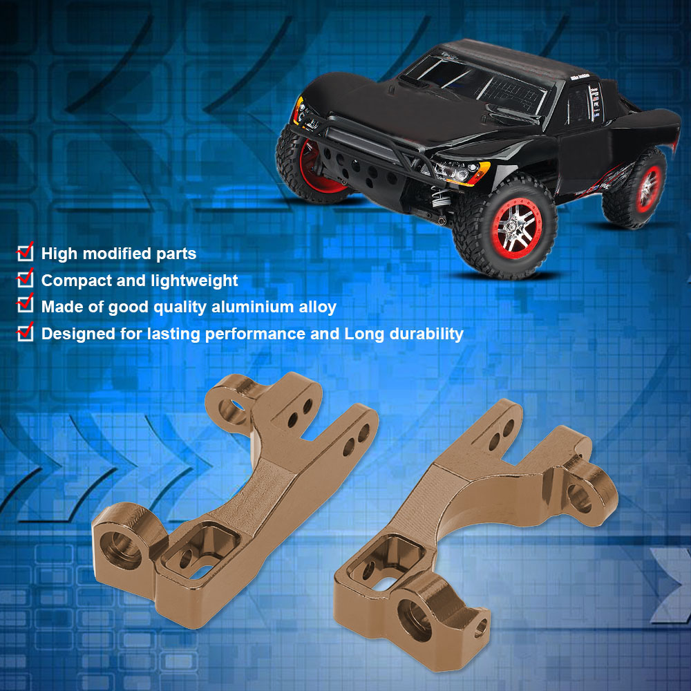 camel SLA003 Aluminum Alloy Modified Parts Front Hub Carrier(L/R) for 1/10  TRAXXAS SLASH 4x4 RC Car - RcMoment com