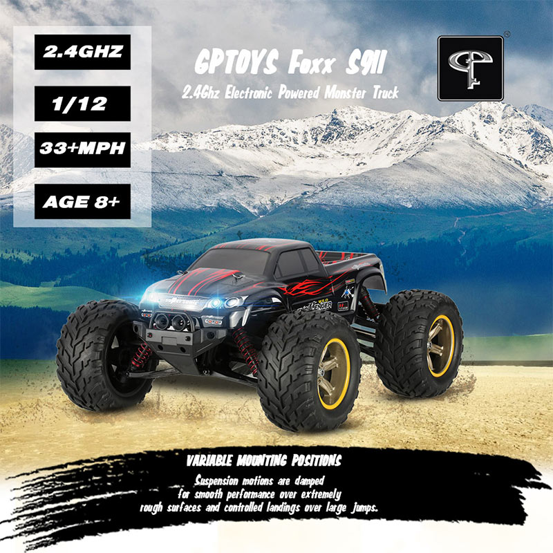 $59.99 For Original GPTOYS Foxx S911 Monster Truck with code EDM5723