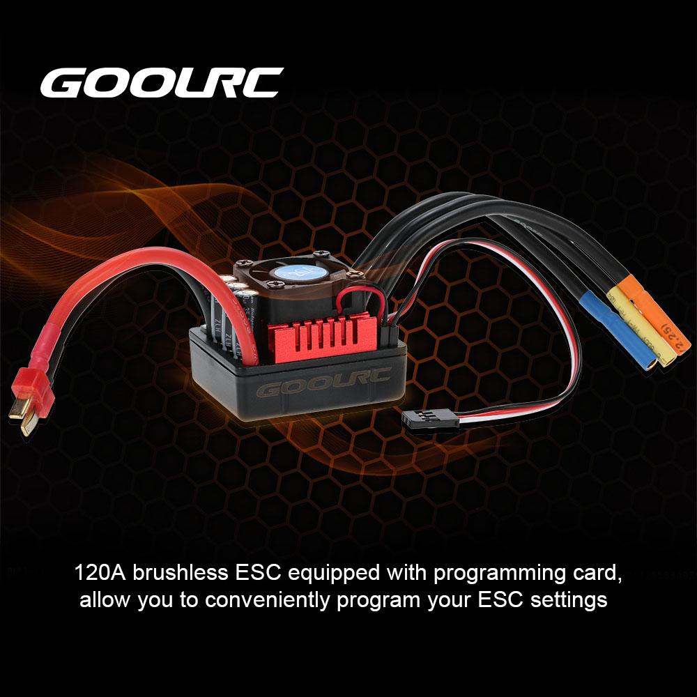 GoolRC 120A Sensored Brushless Speed Controller ESC for 1//8 1//10 1//12 Car Crawler